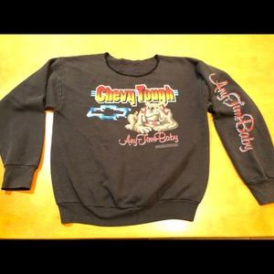 Vintage Black Chevy Tough Anytime Baby L Sweater